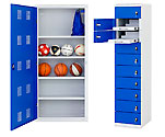 laptop locker and a ball locker