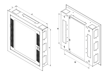 RNA - FLAT DOOR VERSION CABINET