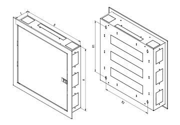 SNA - FLAT DOOR VERSION CABINET