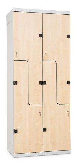 """Z""-type clothes lockers – (with doors of ""Z"" letter shape)"