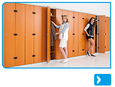Clothes lockers - Laminate/Steel