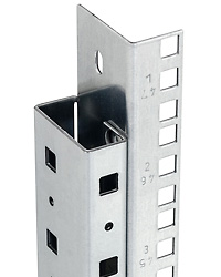 Vertical rail for cabinets RDA, RDE, RXA
