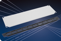 Blanking panels, cable entry panels, frames