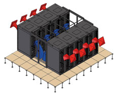 Scheme of data center cooling