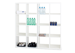Laminated chipboard shelving system