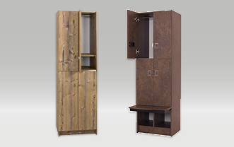 Laminated clothes lockers